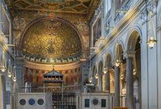 圣克莱芒特,罗马大教堂  库存图片