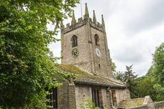 圣克里斯托弗` s教会在Pott Shrigley,彻斯特,英国小村庄  图库摄影