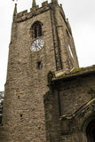 圣克里斯托弗` s教会在Pott Shrigley,彻斯特,英国小村庄  库存图片