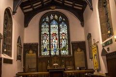 圣克里斯托弗` s教会在Pott Shrigley,彻斯特,英国小村庄  免版税库存图片