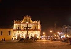 圣克里斯托瓦尔大教堂,恰帕斯州,墨西哥 库存图片