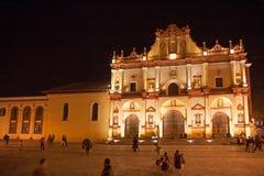 圣克里斯托瓦尔大教堂,恰帕斯州,墨西哥 免版税库存图片