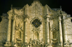 圣克里斯托瓦尔de La Habana大教堂,哈瓦那,古巴 免版税图库摄影