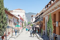 圣克里斯托瓦尔de Las卡萨什,恰帕斯州,墨西哥 免版税库存照片