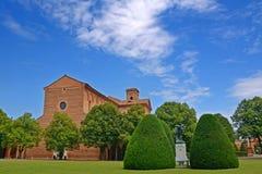 圣克里斯托福罗alla Certosa教会在费拉拉-意大利 免版税库存图片