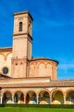 圣克里斯托福罗alla Certosa教会在费拉拉 库存图片