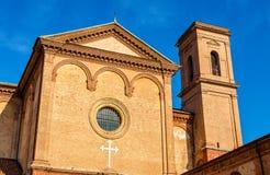 圣克里斯托福罗alla Certosa教会在费拉拉 图库摄影