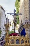 圣克鲁斯团体在圣周在塞维利亚 库存照片
