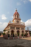 圣克鲁斯教会(葡萄牙传统在曼谷) 免版税库存图片