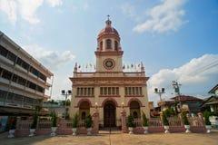 圣克鲁斯教会(葡萄牙传统在曼谷) 库存照片