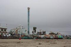 圣克鲁斯海滩木板走道游乐园 库存照片