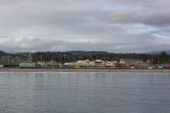 圣克鲁斯海滩木板走道游乐园 免版税库存照片