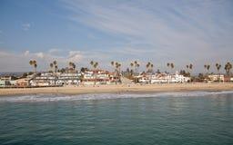 圣克鲁斯海滩木板走道 库存图片
