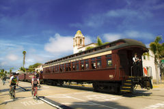 圣克鲁斯火车 免版税库存图片