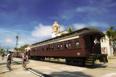 圣克鲁斯火车 免版税库存照片