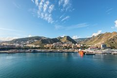 圣克鲁斯de特内里费岛,加那利群岛,西班牙的都市风景 免版税库存照片