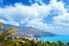 圣克鲁斯de La Palma在大西洋加那利群岛 免版税库存图片