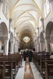圣凯瑟琳教会内部在伯利恒 在15世纪首先被记录了 库存图片
