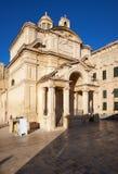 圣凯瑟琳,瓦莱塔,马耳他教会  免版税图库摄影
