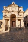 圣凯瑟琳,瓦莱塔,马耳他教会  免版税库存照片