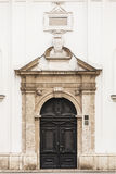 圣凯瑟琳,萨格勒布天主教会的门户  免版税库存照片