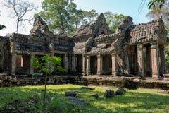 圣剑寺寺庙在复杂吴哥窟在暹粒市,柬埔寨 免版税图库摄影