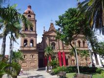 圣劳伦斯大教堂在圣克鲁斯,玻利维亚 库存照片