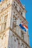 圣劳伦斯大教堂在特罗吉尔,克罗地亚 免版税库存照片