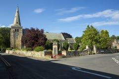 圣劳伦斯教会, Warkworth,诺森伯兰角 免版税库存图片