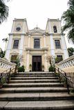 圣劳伦斯湾教会(Igreja de S. Lourenco),澳门,中国 免版税库存图片