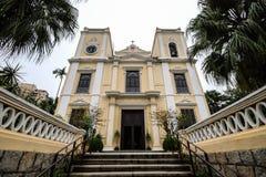 圣劳伦斯湾教会(Igreja de S. Lourenco),澳门,中国 免版税库存照片