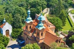 圣劳伦斯湾,布拉格,捷克全景  免版税图库摄影