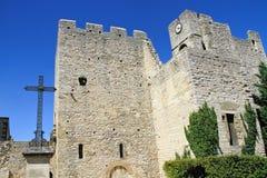 圣劳伦特des Arbres, Provencal村庄 库存照片