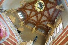 圣十字圣保罗医院内部在巴塞罗那 库存图片