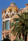 圣十字圣保罗医院在巴塞罗那,西班牙 免版税库存图片