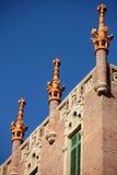 圣十字圣保罗医院的细节在巴塞罗那,西班牙 库存照片