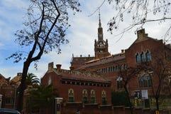 圣十字圣保罗医院, Barselona,西班牙 库存图片