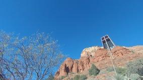 圣十字的著名教堂的早晨timelapse红色岩石的 影视素材