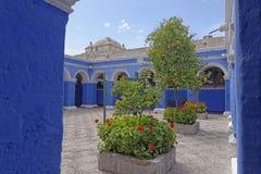 圣卡塔利娜修道院。阿雷基帕,秘鲁 库存照片