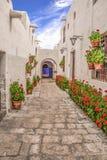 圣卡塔利娜修道院在阿雷基帕秘鲁 免版税库存图片