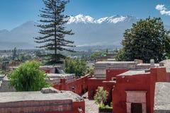 圣卡塔利娜修道院-阿雷基帕,秘鲁 库存图片