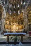 圣卡塔利娜,大教堂的里面看法组塑在Av 免版税库存图片