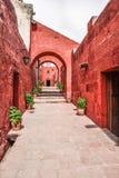圣卡塔利娜,秘鲁修道院  免版税库存照片