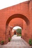 圣卡塔利娜,秘鲁修道院  免版税库存图片