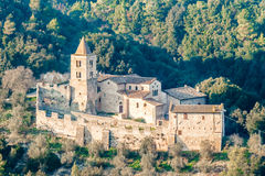 圣卡夏诺,纳尔尼,意大利修道院  免版税图库摄影