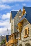 圣卡洛斯de巴里洛切市中心大厦 库存图片