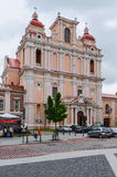 圣卡齐米,维尔纽斯天主教会  库存照片