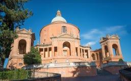 圣卢卡,波隆纳,意大利教会  库存照片