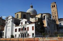圣卢西亚教会从大运河的在威尼斯在意大利 库存照片