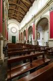 圣卢西亚的教会在墙壁西勒鸠斯西西里岛外 库存照片
